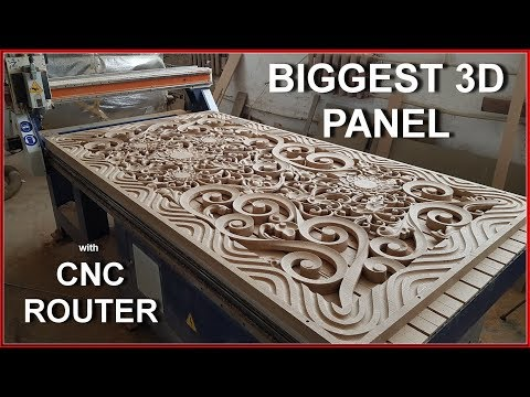 Biggest 3d panel with CNCrouter